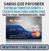 crear una cuenta en Payoneer